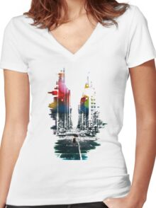 The Ambient Resolution Women's Fitted V-Neck T-Shirt