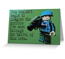 Dispatches from the frontline by Tim Constable Greeting Card