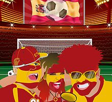 / Samsung Galaxy Cases Spain Football Fan  iPhone 5 Case / iPhone 4 Case  / Samsung Galaxy Cases  by CroDesign