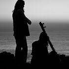 Sitar Sunrise - B&W by Lianne Wooster