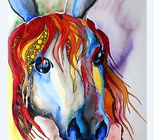 Colorful horse abstract by Ulianka