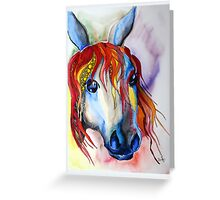 Colorful horse abstract Greeting Card