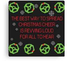 Christmas cheer with steering wheels Canvas Print