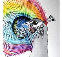 Beatiful peacock painting by Ulianka