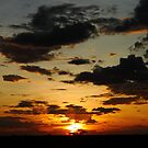 Sunset of northern Kenya by Karue