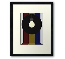 Lightbulb in a Circle with Some Stripes Framed Print