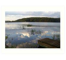 MUUSA lake mirror sky Art Print