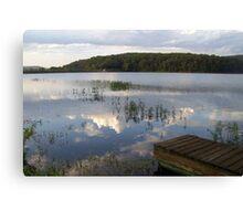 MUUSA lake mirror sky Canvas Print