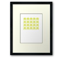 PIXEL8   Space Invaders Classic Error Message Framed Print