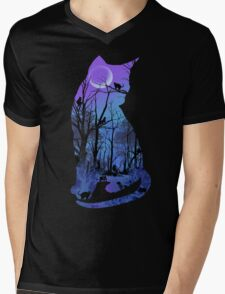 CATMOON Mens V-Neck T-Shirt