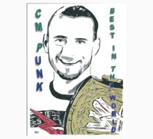 CM Punk Best In The World Comic Book Tee by chrisjh2210