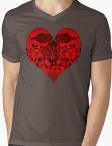 INDIANHEART Mens V-Neck T-Shirt