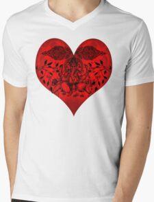 INDIANHEART Mens V-Neck T-Shirt