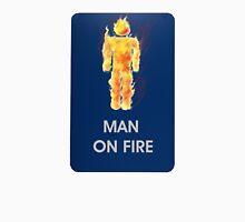 Man on fire (smaller logo) Unisex T-Shirt