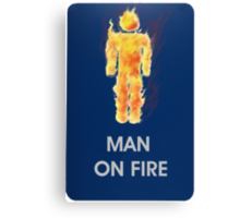 Man on fire (smaller logo) Canvas Print