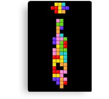 Tetris Thin Tie Canvas Print