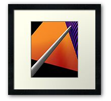 A Supportive Position  Framed Print
