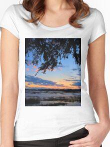 Beaufort Harbor Sunset Women's Fitted Scoop T-Shirt