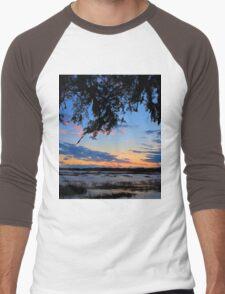 Beaufort Harbor Sunset Men's Baseball ¾ T-Shirt