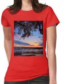 Beaufort Harbor Sunset Womens Fitted T-Shirt