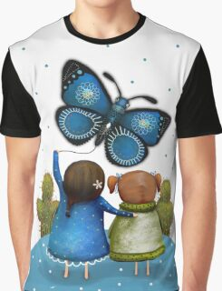 Butterfly Kite Graphic T-Shirt