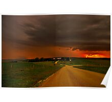 """Thunderstorms Around Sundown"" Poster"