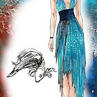 Betta Fish Inspired Dress by Brittany LeBold