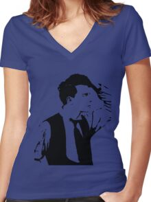 buster .  Women's Fitted V-Neck T-Shirt