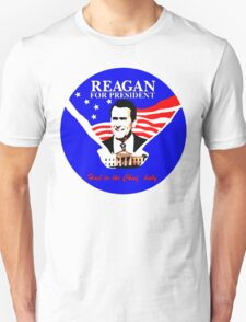 """FARGO Ronald Reagan """"Hail to the Chief, baby."""" Oil Painting T-Shirt"""