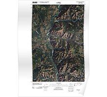 USGS Topo Map Washington State WA Louie Creek 20110413 TM Poster