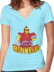 IRON KRANG  Women's Fitted V-Neck T-Shirt
