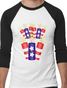 Firecracker Celebration  Men's Baseball ¾ T-Shirt