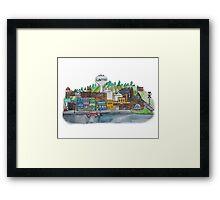 Lawton Michigan Watercolor Framed Print