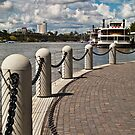River Path to Paddlesteamer Brisbane Australia by PhotoJoJo