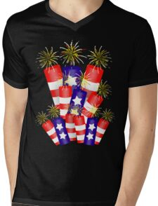 Firecracker Celebration  Mens V-Neck T-Shirt