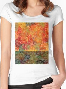 0775 Abstract Thought Women's Fitted Scoop T-Shirt