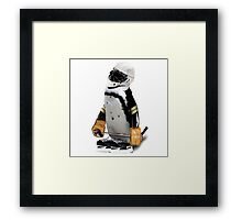 Little Mascot Hockey Player Penguin Framed Print
