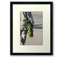 Soldier with a wreath Framed Print