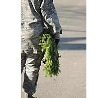 Soldier with a wreath Photographic Print