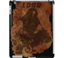 Lobo Silhouette (w/ Grunge Backround) iPad Case/Skin