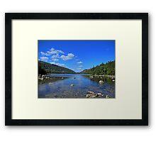 View of Jordan Pond Framed Print