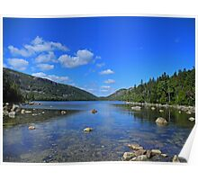 View of Jordan Pond Poster