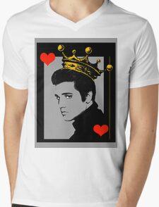 KING OF HEARTS T-SHIRT Mens V-Neck T-Shirt