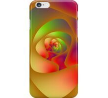 Spiral Labyrinth in Red Green and Orange iPhone Case/Skin
