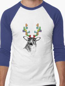 Tetris Deer Men's Baseball ¾ T-Shirt