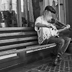 Fiddler in Black and White by JLBphoto