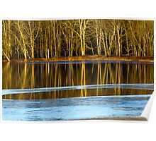 Quiet Waters Reflect Deceptively Tranquil Sienes Poster