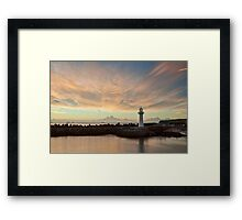 Light Me Up - Wollongong NSW Framed Print
