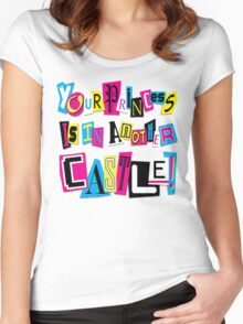 PRINCESS RANSOM NOTE Women's Fitted Scoop T-Shirt