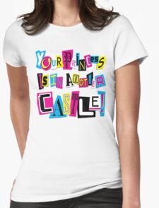 PRINCESS RANSOM NOTE Womens Fitted T-Shirt